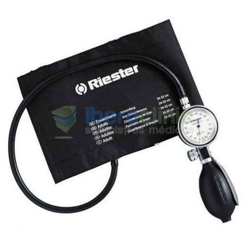 Tensiómetro de reloj compacto de 1 tubo<br>Resistente carcasa metálica de cromado brillante, con anillo metálico, protegida cont