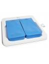 - 2 cojines de silicona separados.<br>- Doble refuerzo lateral de los cojines de silicona <br> - Longitud útil 420 mm. Posibili