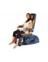 • Posición baja: 47 cm <br>• Posición alta al final de la pierna: 135 cm <br>• Ancho de asiento: 58 cm <br>• Brazo plegable resp